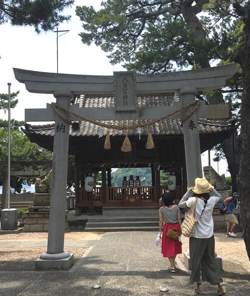 八百富神社の遥拝所