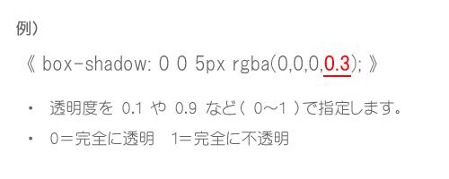 rgba 透明度指定方法