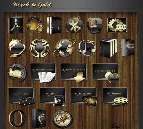 Black gold icon
