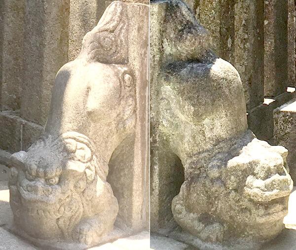 伊奈波神社-逆さ狛犬